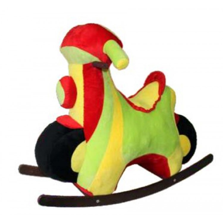 "Каталка Аймид 211А ""Мотороллер"" зеленый-красный-желтый 70*80*35 см зеленый"