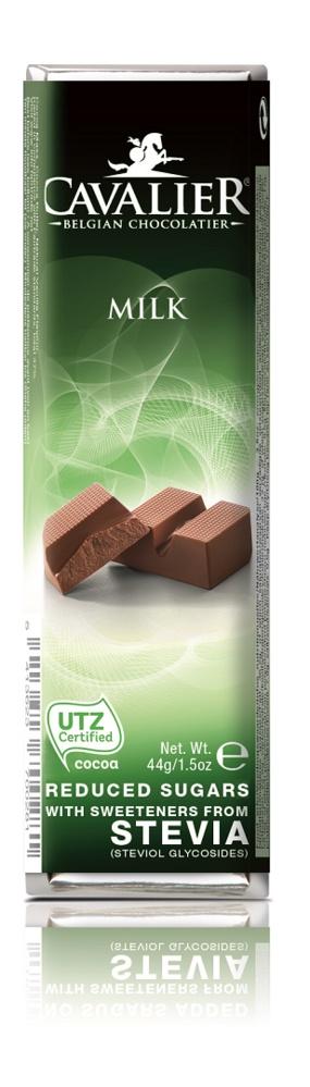 Шоколадный батончик Cavalier Бельгийский молочный шоколад без сахара со стевией, 44 г tatonka cavalier