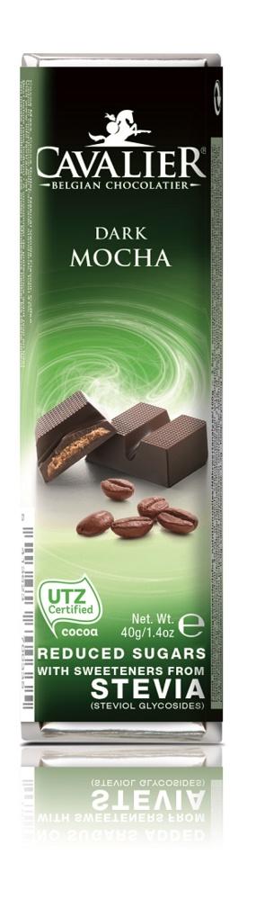 Шоколадный батончик Cavalier Бельгийский горький шоколад без сахара с кофе и стевией, 40 г tatonka cavalier