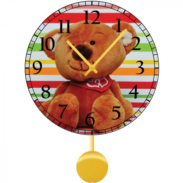 Настенные часы Kids Dream 30112183011218Механизм: Кварцевый; Корпус: Дерево; Размер: Диаметр 30 см;Рисунок: Жизнерадостный мишка
