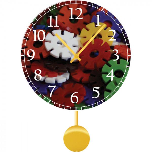 Настенные часы Kids Dream 30112193011219Механизм: Кварцевый; Корпус: Дерево; Размер: Диаметр 30 см;Рисунок: Шестеренки