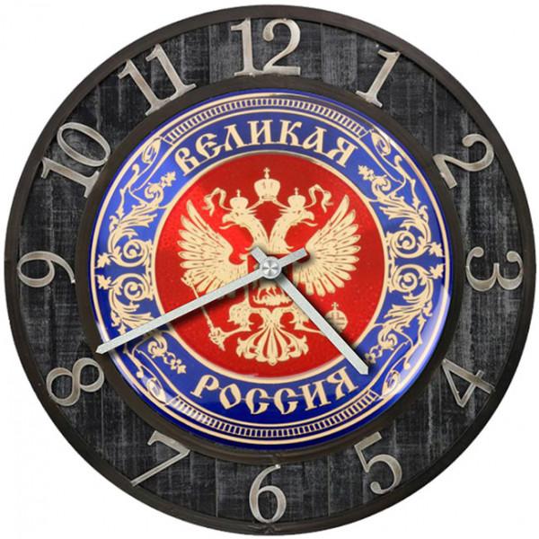 Настенные часы Kitch Clock 35013423501342Настенные часы с символикой. Механизм: Кварцевый; Корпус: Дерево; Размер: Диаметр 35 см;Рисунок: Двухглавый орел