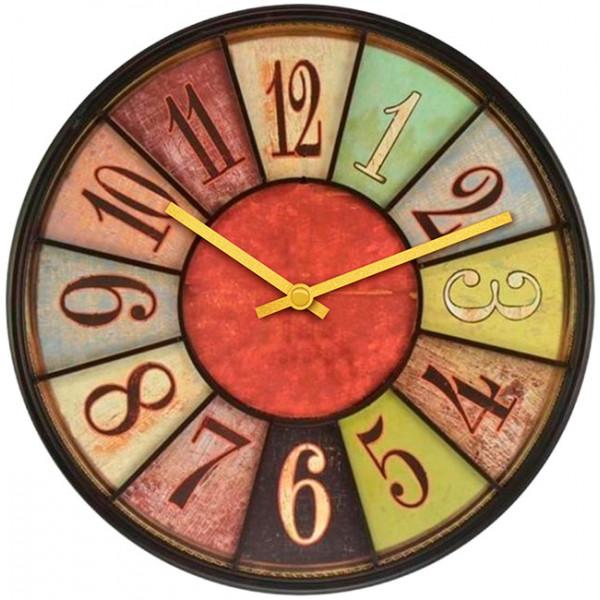 Настенные часы Kitch Clock 40011014001101Механизм: Кварцевый; Корпус: Дерево; Размер: Диаметр 40 см