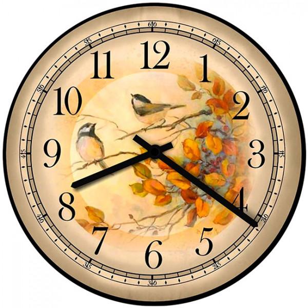 Настенные часы Kitch Clock 35010313501031Настенные часы для гостиной. Механизм: Кварцевый; Корпус: Дерево; Размер: Диаметр 35 см;Рисунок: Птички на ветке