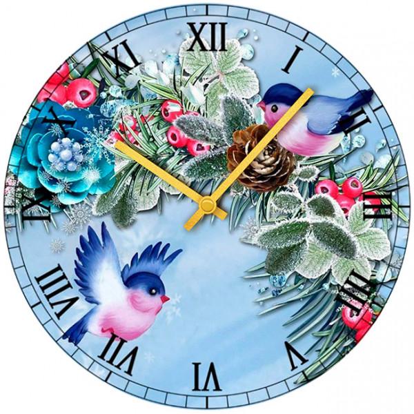 Настенные часы Kitch Clock 40010564001056Настенные часы для гостиной. Механизм: Кварцевый; Корпус: Дерево; Размер: Диаметр 40 см;Рисунок: Птички с шишкой