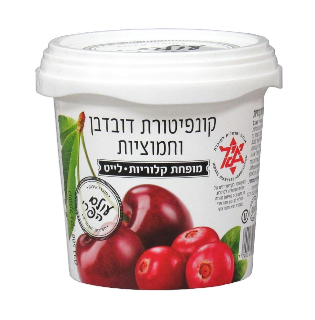Варенье Fruit World 02471 вишнево-клюквенное диабетическое без сахара 0.5 кг Банка, 500