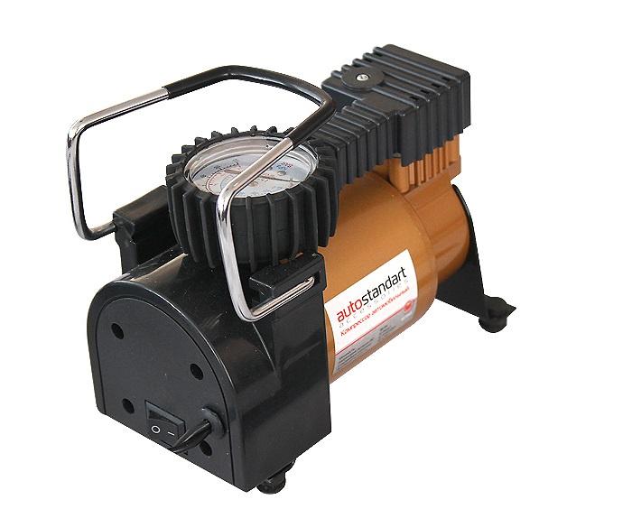 Автомобильный компрессор AutoStandart TORNADO, черный, оранжевый