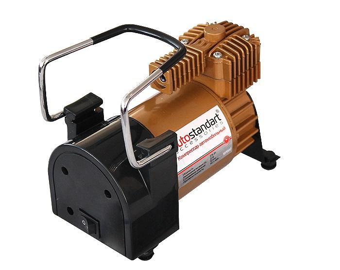 Автомобильный компрессор AutoStandart TORNADO II, черный, оранжевый