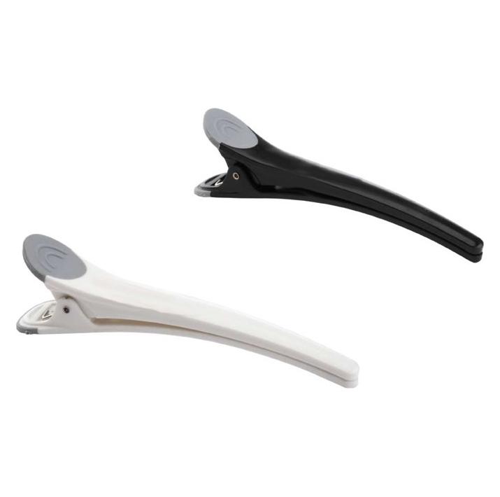 Зажим для волос Dewal зажимы для волос dewal черно белые пластик с резиновой вставкой 11см 6 шт уп