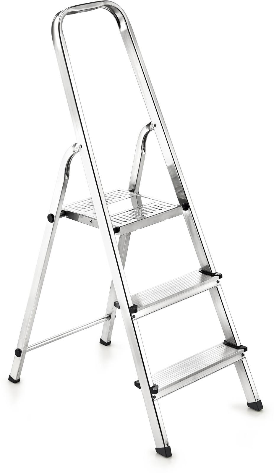 Стремянка Zalger, 111-3, серый металлик, 3 ступени стремянка стальная rigger 100101 3 ступени