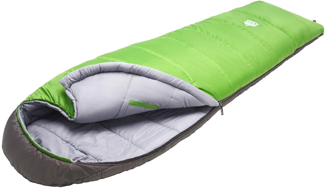 Спальный мешок TREK PLANET Comfy, кокон-одеяло, трехсезонный, правая молния, зеленый, серый