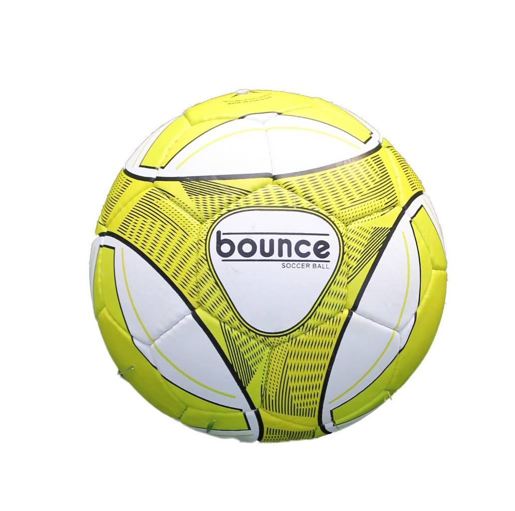 Мяч футбольный Bounce FM-010, желтый, белый