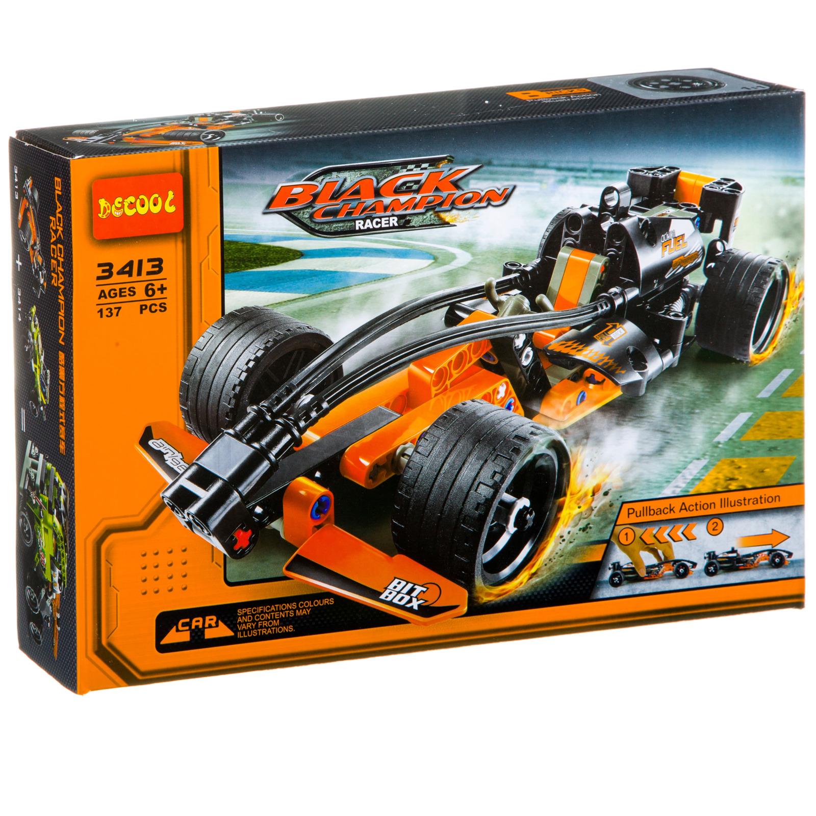 Пластиковый конструктор Decool Гоночная машина Черный чемпион, Г85968 цена