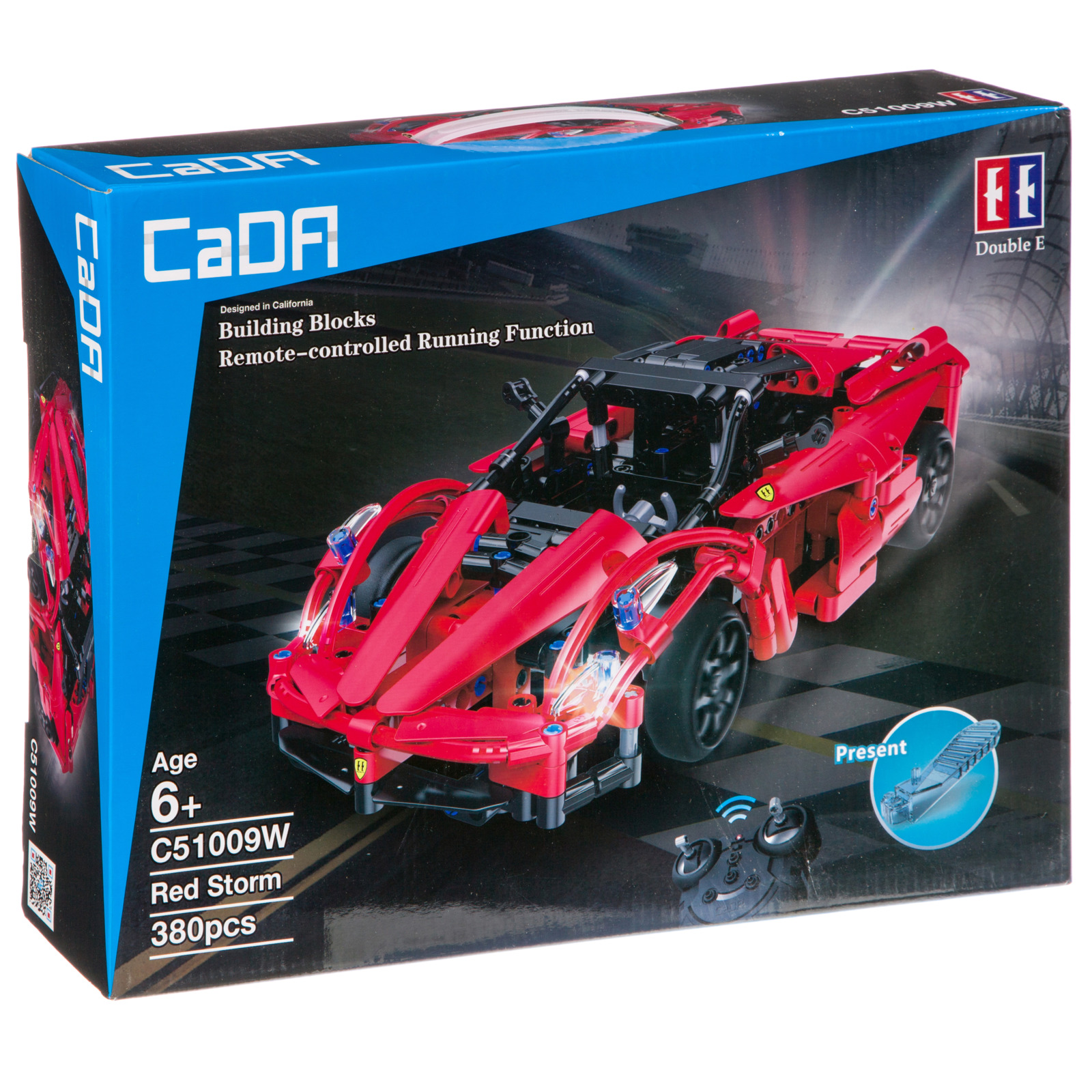 Пластиковый конструктор FullFunc Машина на радиоуправлении Red Storm, М93774