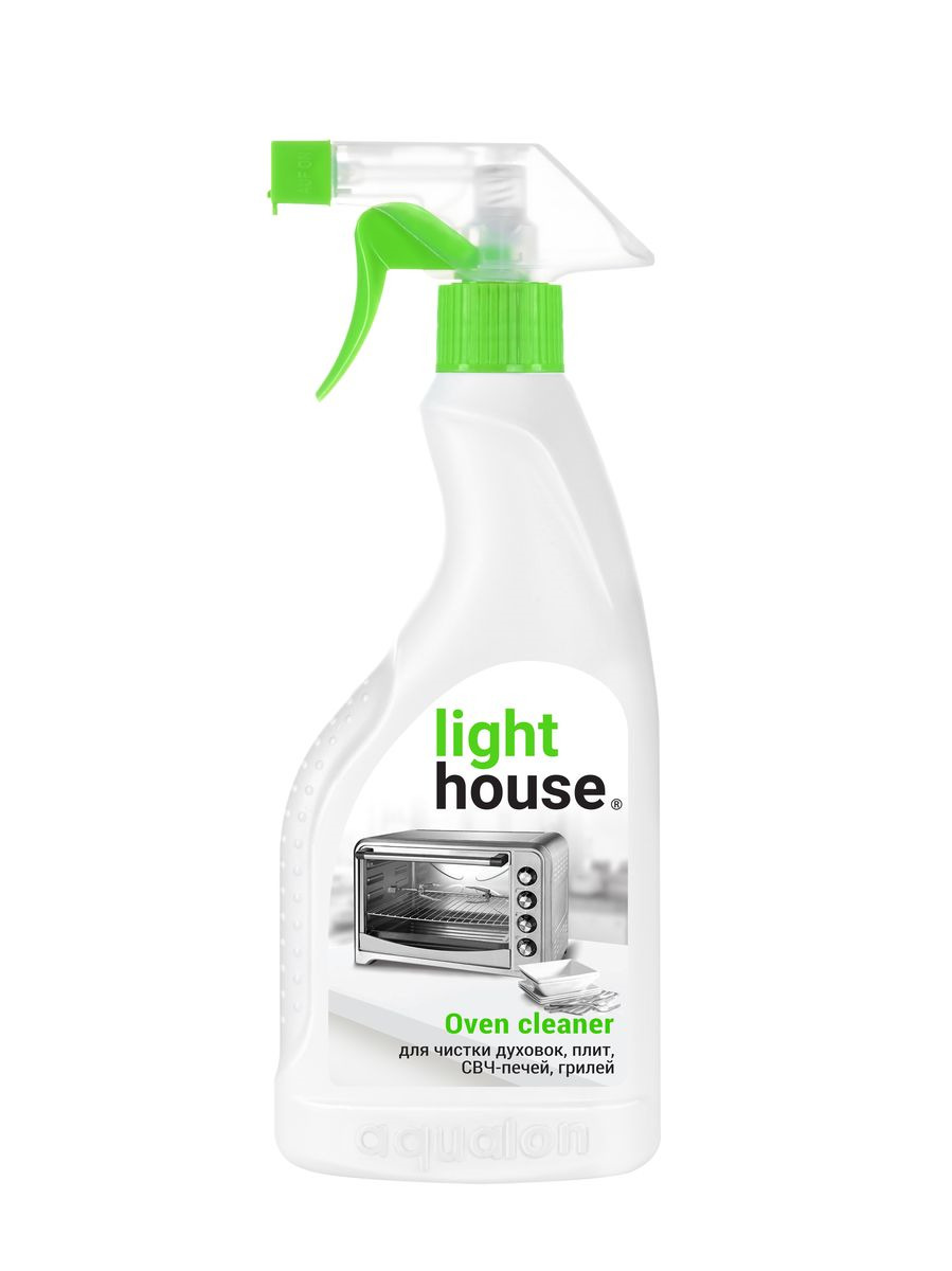 Средство для для чистки духовок, плит, СВЧ-печей LightHouse, 500 мл средство meule для чистки стеклокерамических поверхностей и микроволновых печей 750 мл