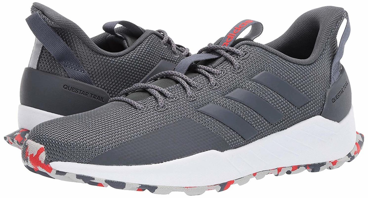 Кроссовки мужские Adidas Questar Trail, цвет: темно-серый. F35005. Размер 10,5 (44)F35005