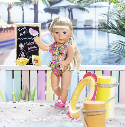 Одежда для кукол Zapf Creation Baby Born для пляжного отдыха, 825-891