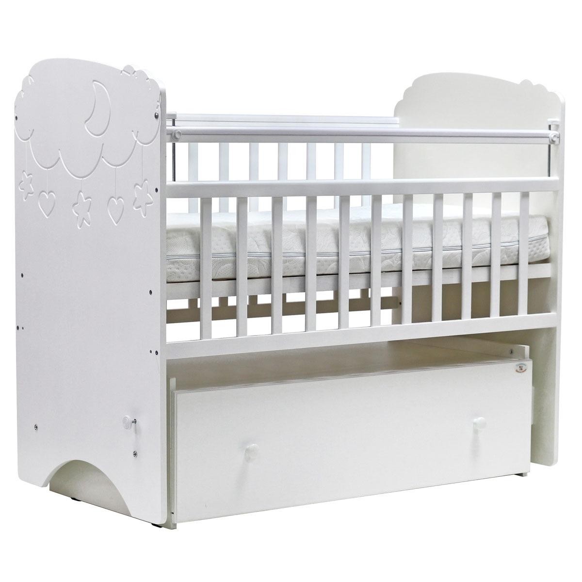 Детская кроватка Топотушки Софья, белый