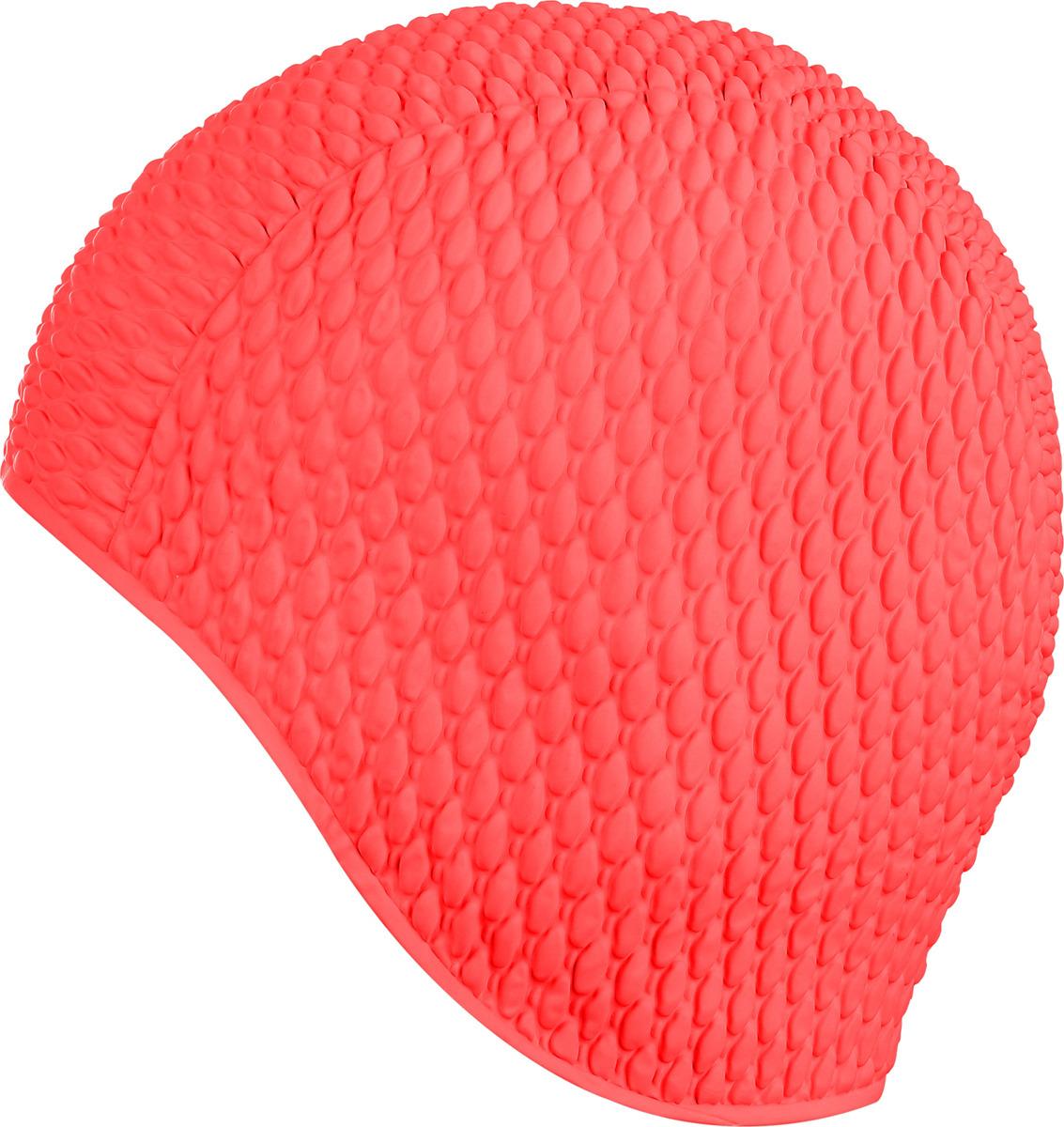 """Шапочка для плавания Indigo """"Bubble"""", женская, цвет: красный"""