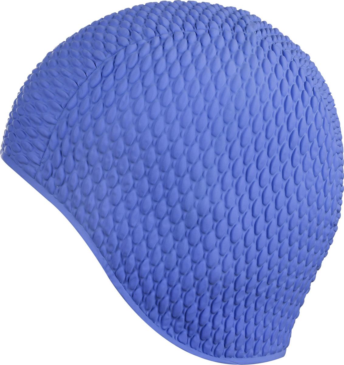 """Шапочка для плавания Indigo """"Bubble"""", женская, цвет: темно-синий"""