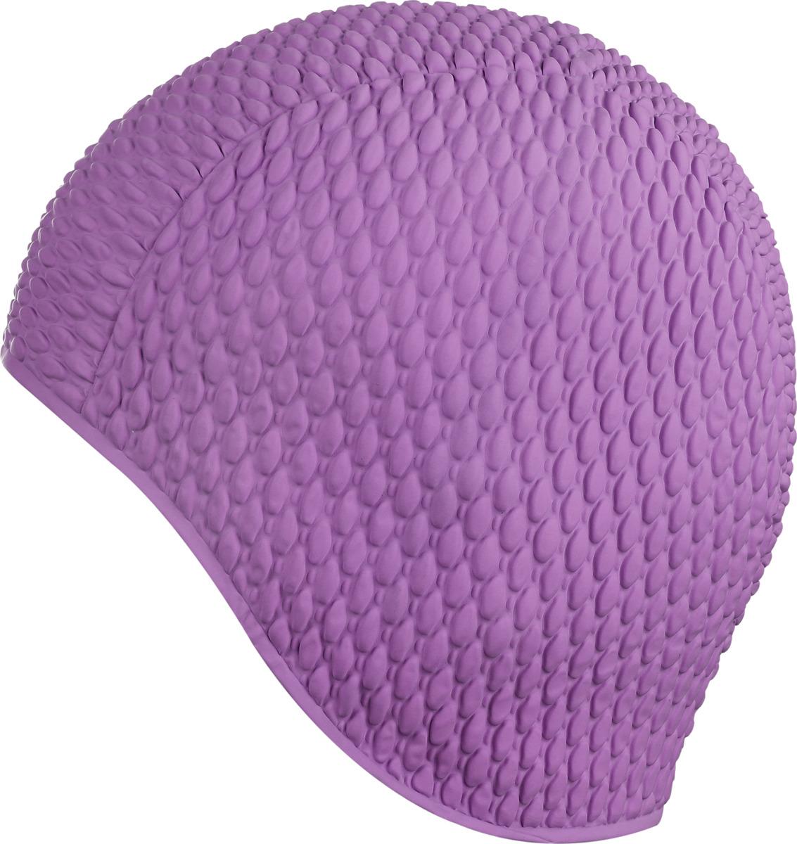 Шапочка для плавания Indigo Bubble, женская, цвет: фиолетовый00020208Женская резиновая шапочка для плавания Indigo Bubble. За счет пузырьков шапочка намного более эластичная и не сдавливает голову, легко одевается и снимается, не причиняя вреда волосам. Шапочка имеет оригинальный внешний вид. Высококачественная резина, из которого изготовлена шапочка, гарантирует долгий срок службы при условии бережного использования. Шапочка для плавания защищает волосы от намокания, позволяя волосам оставаться относительно сухими. Плавательная шапочка помогает подчеркнуть индивидуальность, удачно гармонирует с купальным костюмом.