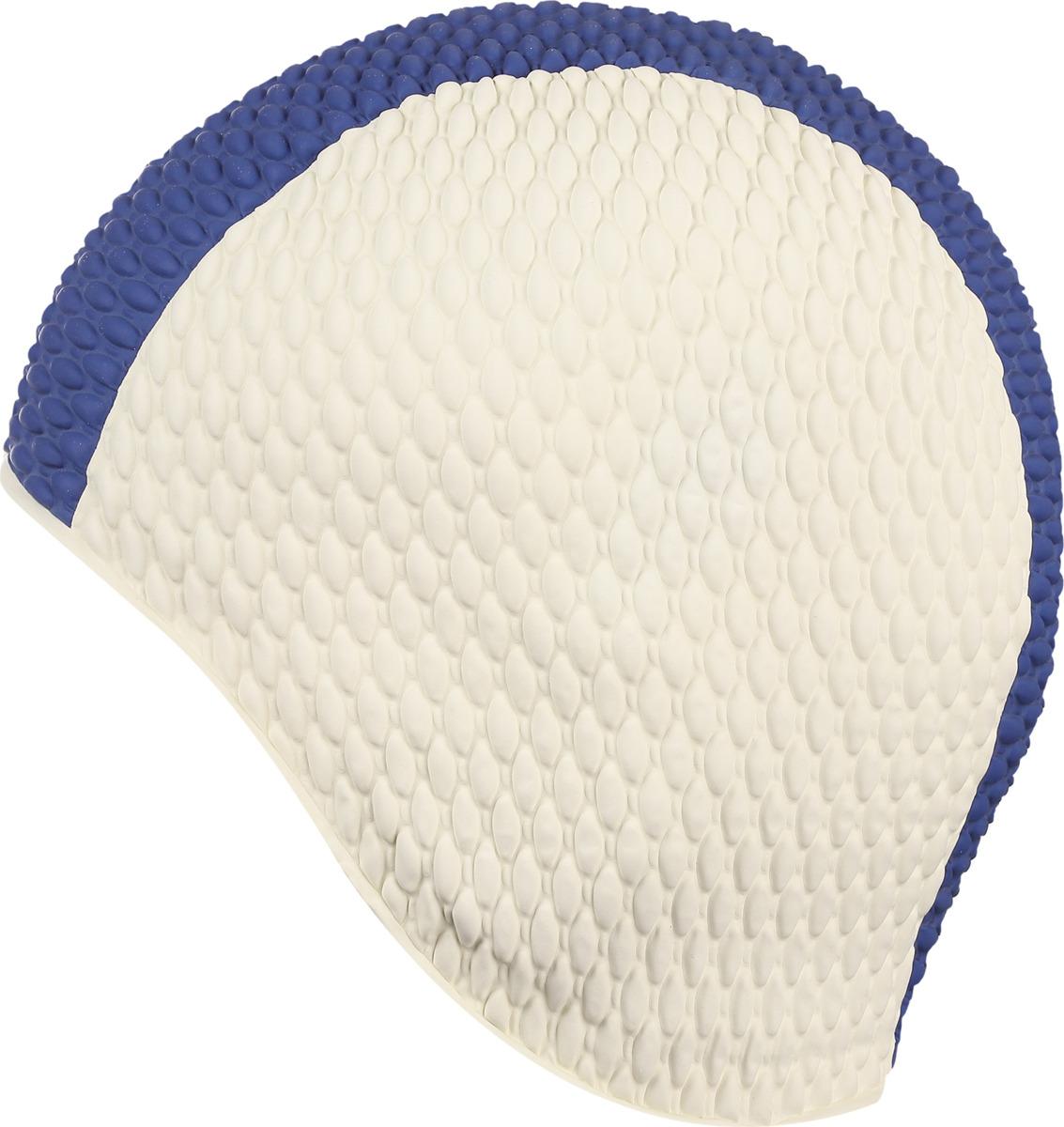Шапочка для плавания Indigo Bubble, мужская, цвет: синий, белый шапочка для плавания indigo silicone 3d форма цвет белый