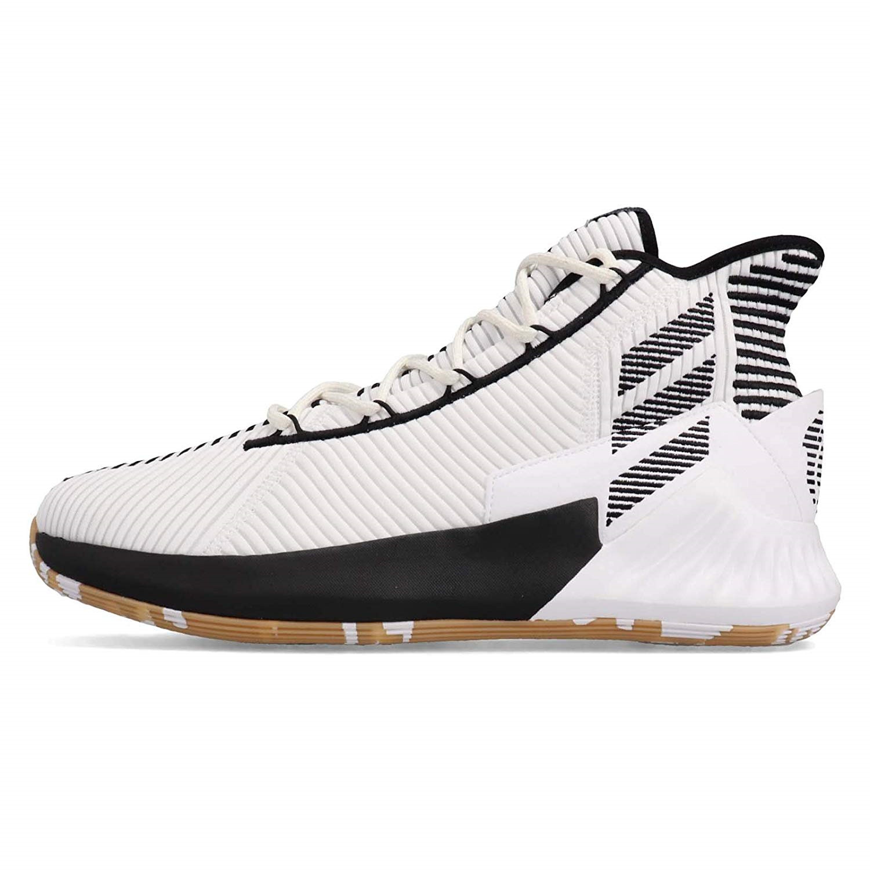 Кроссовки мужские Adidas D Rose 9, цвет: белый. F99880. Размер 13,5 (48)F99880
