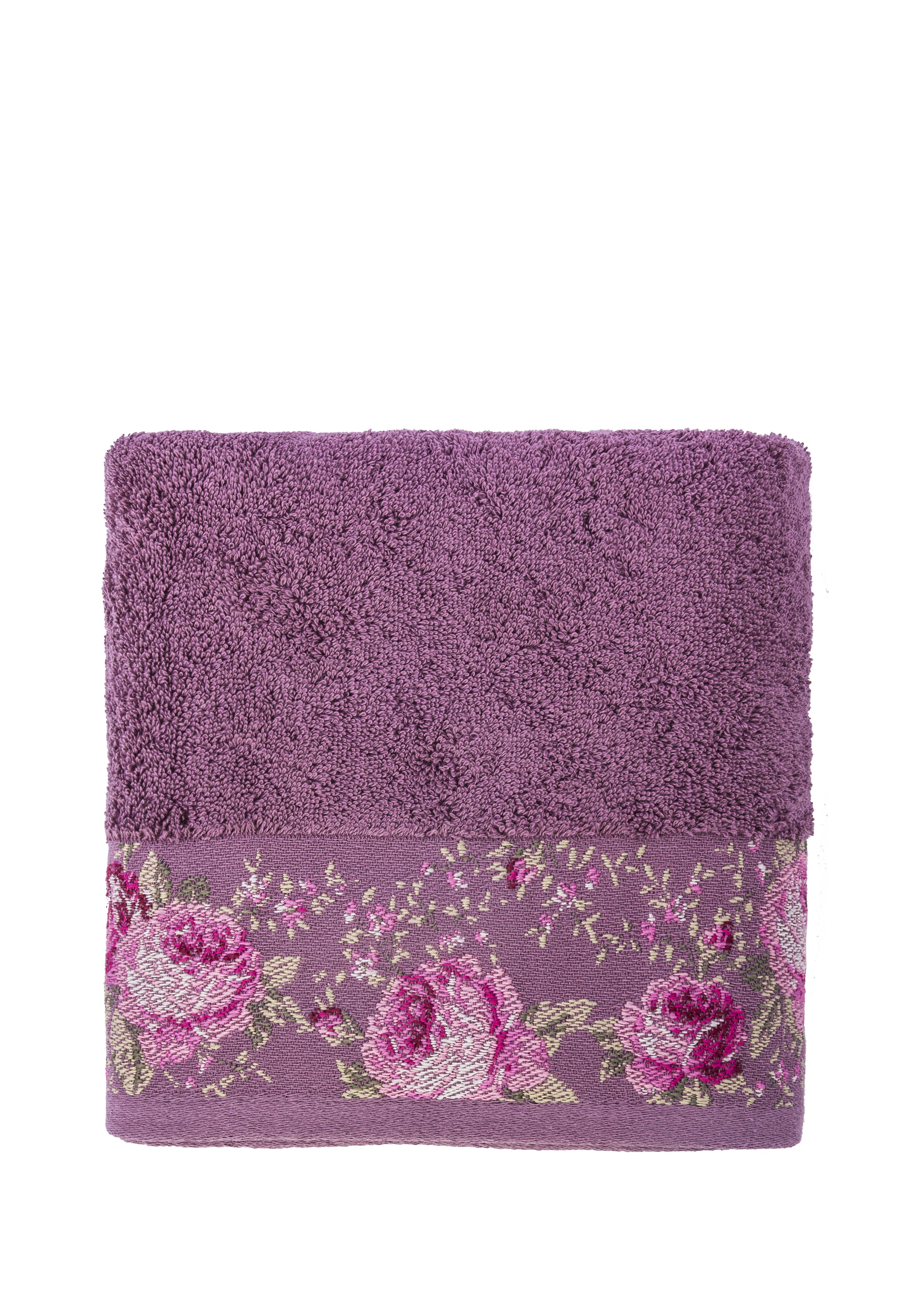 Полотенце банное Arya home collection Desima фиолетовый, фиолетовый полотенца arya полотенце desima цвет пурпурный 70х140 см