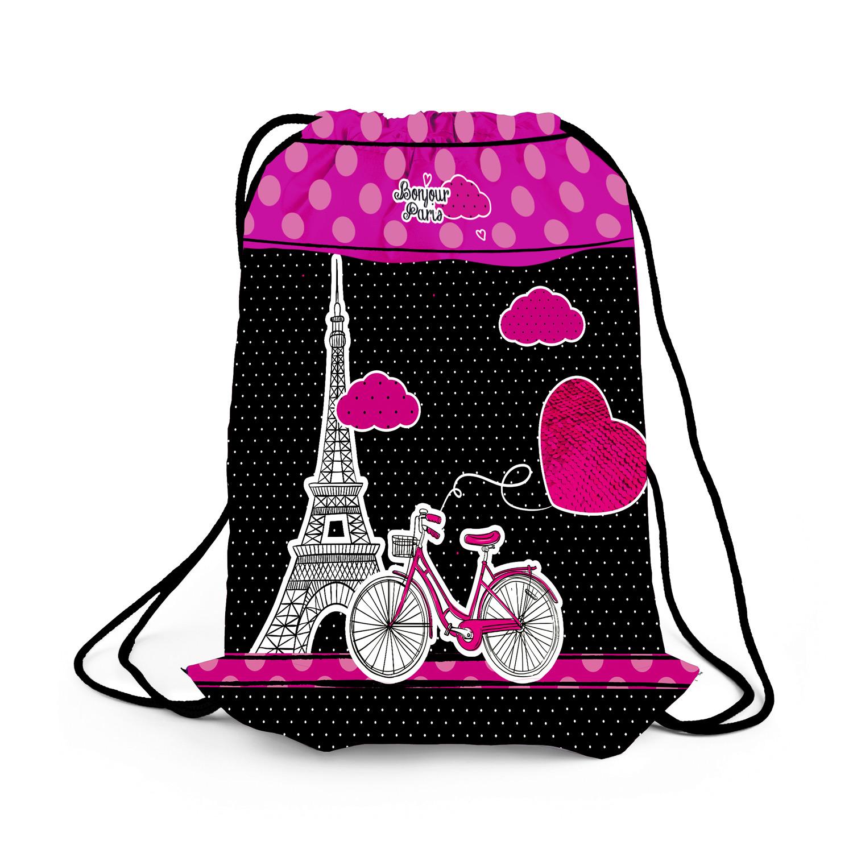 HATBER Мешок для сменной обуви Париж, я люблю тебя