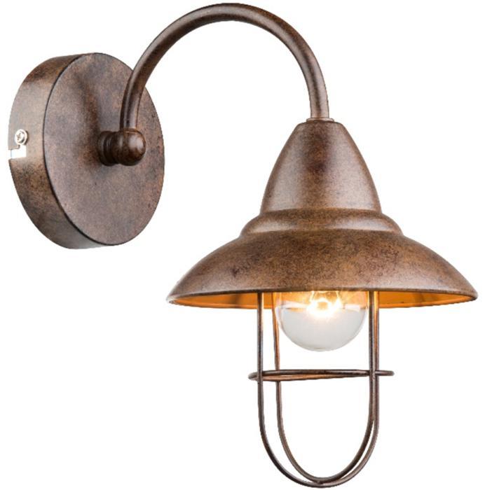 Настенный светильник Globo New 15126W, коричневый