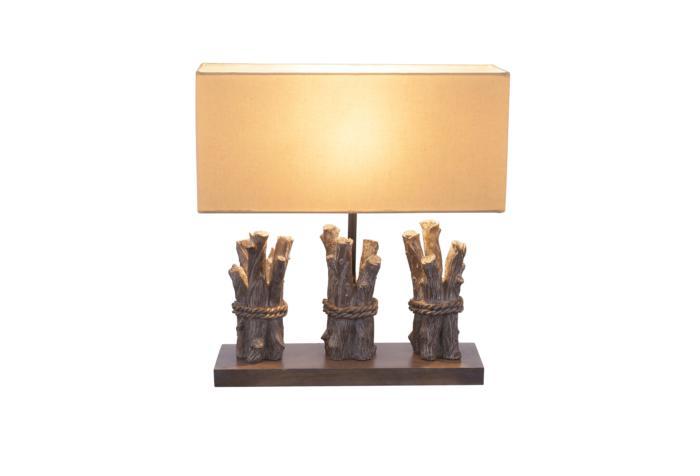 Настольный светильник Globo New 21649, коричневый21649Декоративная настольная лампа Globo 21649 серии Jamie в современном стиле будет хорошим решением для квартиры. Размеры (ДхШхВ) 400х150х420 мм.