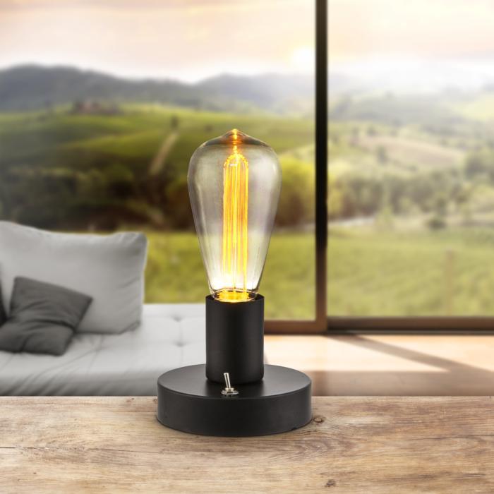 Настольный светильник Globo New 28185, черный лампа настольная globo fanal i 28193 16