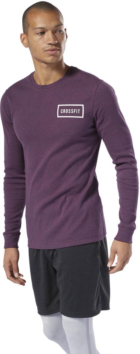 Лонгслив мужской Reebok Rc Ls Thermal Top, цвет: фиолетовый. DU5113. Размер S (46)DU5113