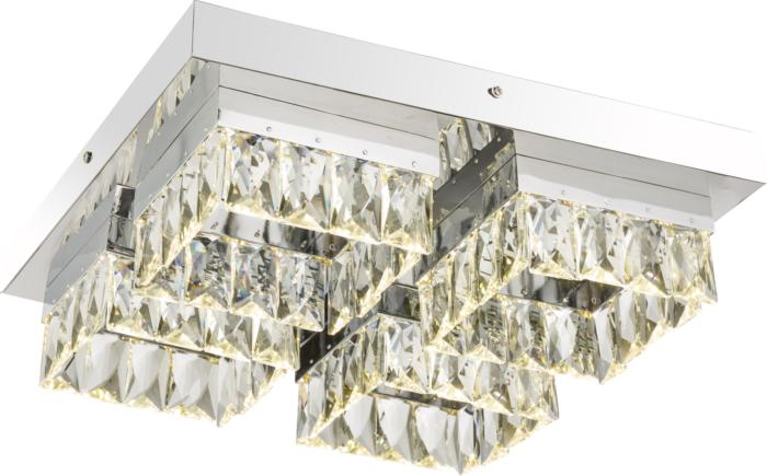 где купить Потолочный светильник Globo New 49234-32D, серый металлик дешево