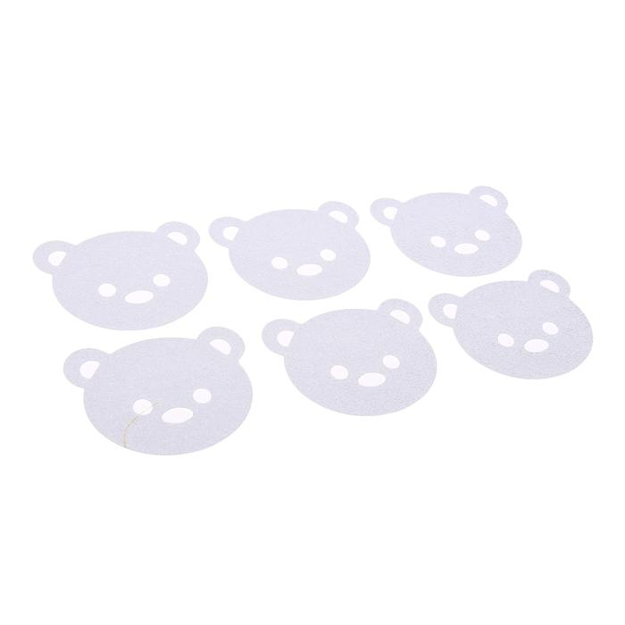 Мини-коврик для ванной Крошка Я Противоскользяшки прозрачный