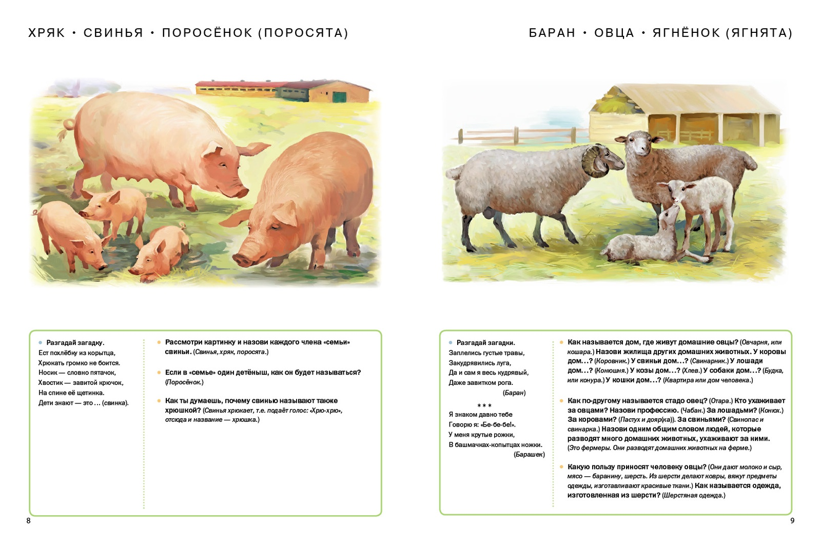 Домашние и дикие животные (звери) средней полосы. Тематический словарь в картинках. Мир животных
