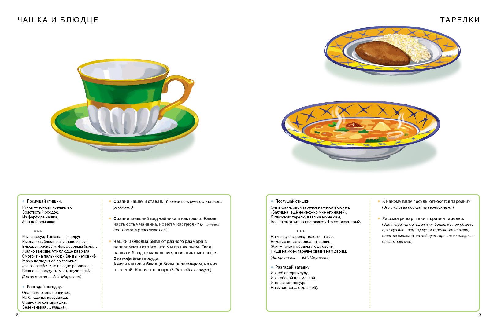 Посуда. Продукты питания. Тематический словарь в картинках: Мир человека