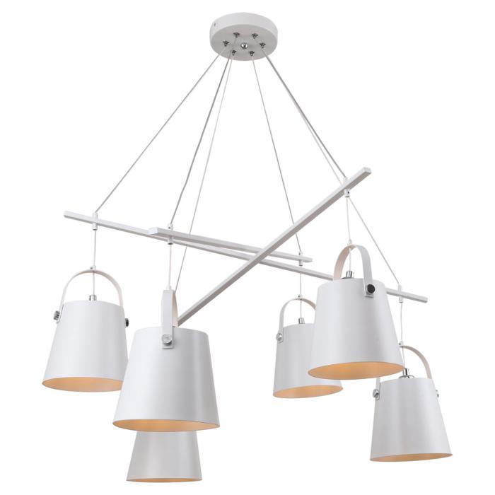 Подвесной светильник Lussole LSP-8098, белыйLSP-8098Подвесная люстра Lussole LSP-8098 серии Lgo подчеркнет стиль помещения. Размеры (ДхШхВ) 680х680х830 мм.