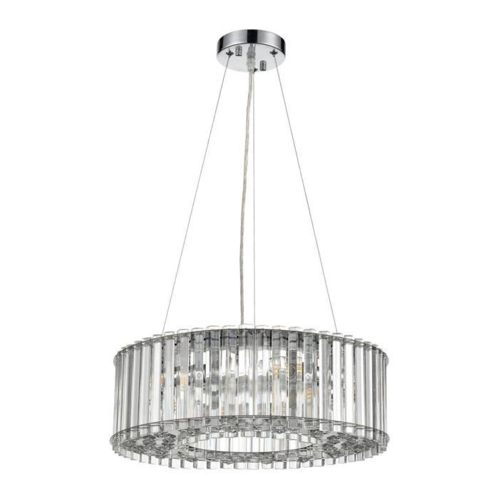 Подвесной светильник Vele Luce VL2173P05, серый металликVL2173P05Подвесной светильник Vele Luce VL2173P05 серии King в современном стиле даст комфортный свет в комнате. Размеры (Диаметр х Высота) 440х160 мм.