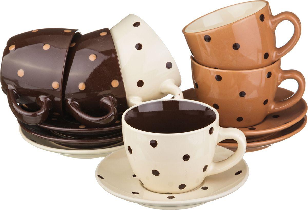 Набор чайный Lefard, 756-099, мультиколор, 250 мл, 12 предметов чайный набор alex в горошек металлическая 705pd
