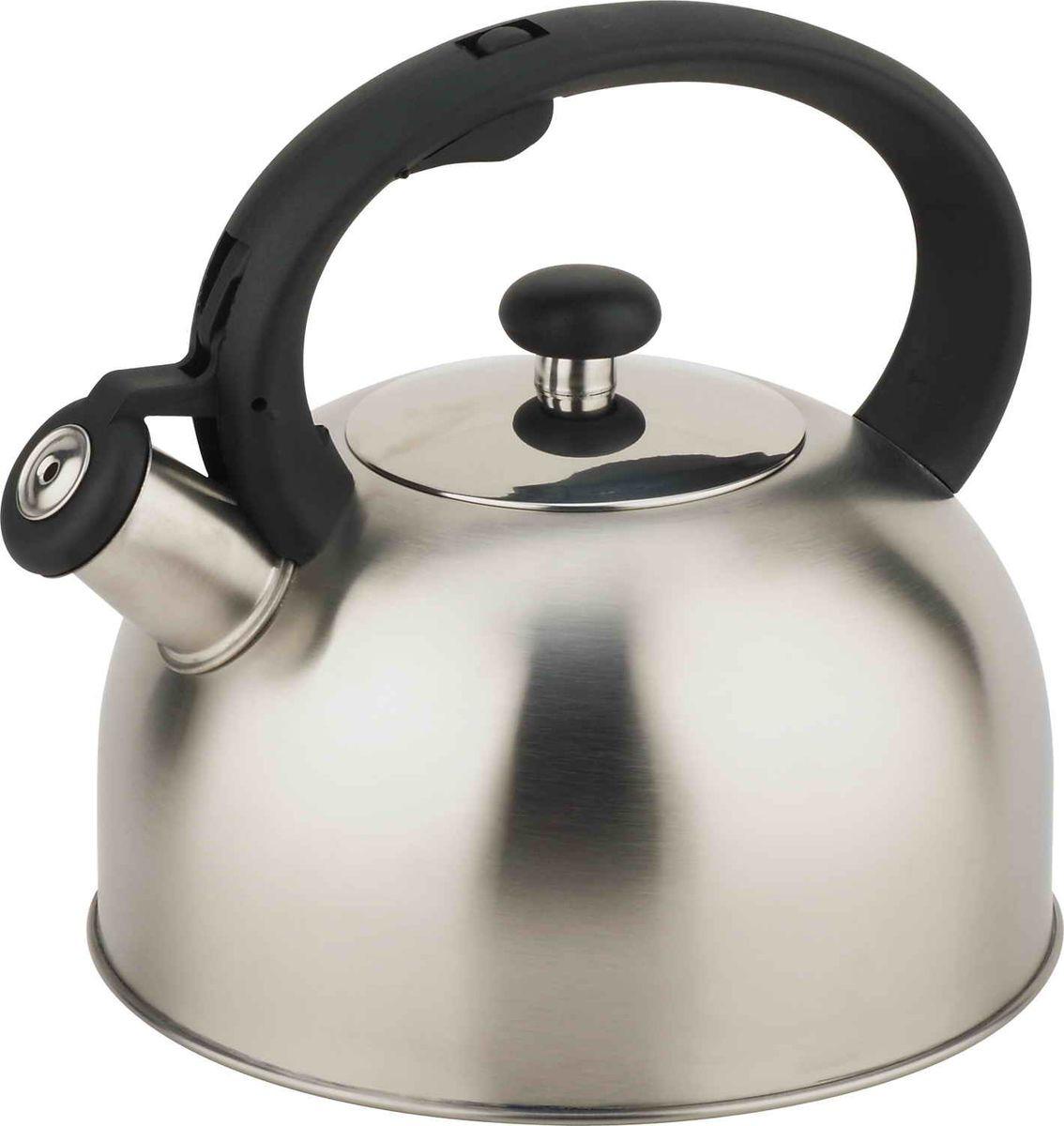 Чайник Bekker, BK-S526, со свистком, серебристый, 1,8 л цена