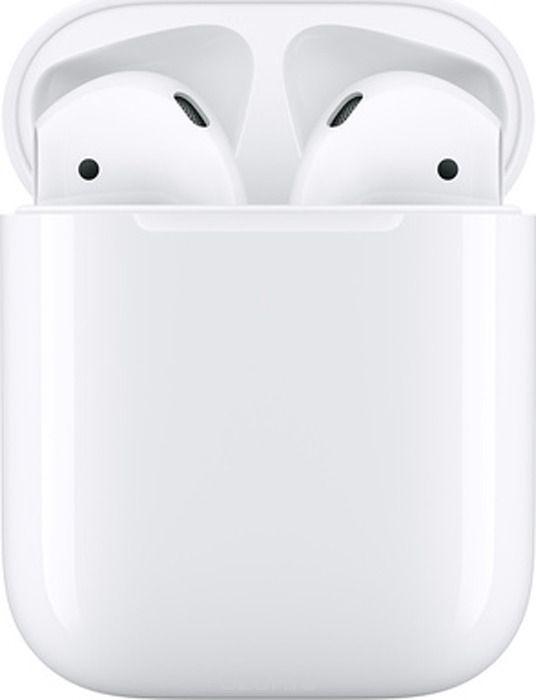 Беспроводные наушники Apple AirPods 2019 в зарядном футляре, белый беспроводные наушники apple airpods кожа питона черный