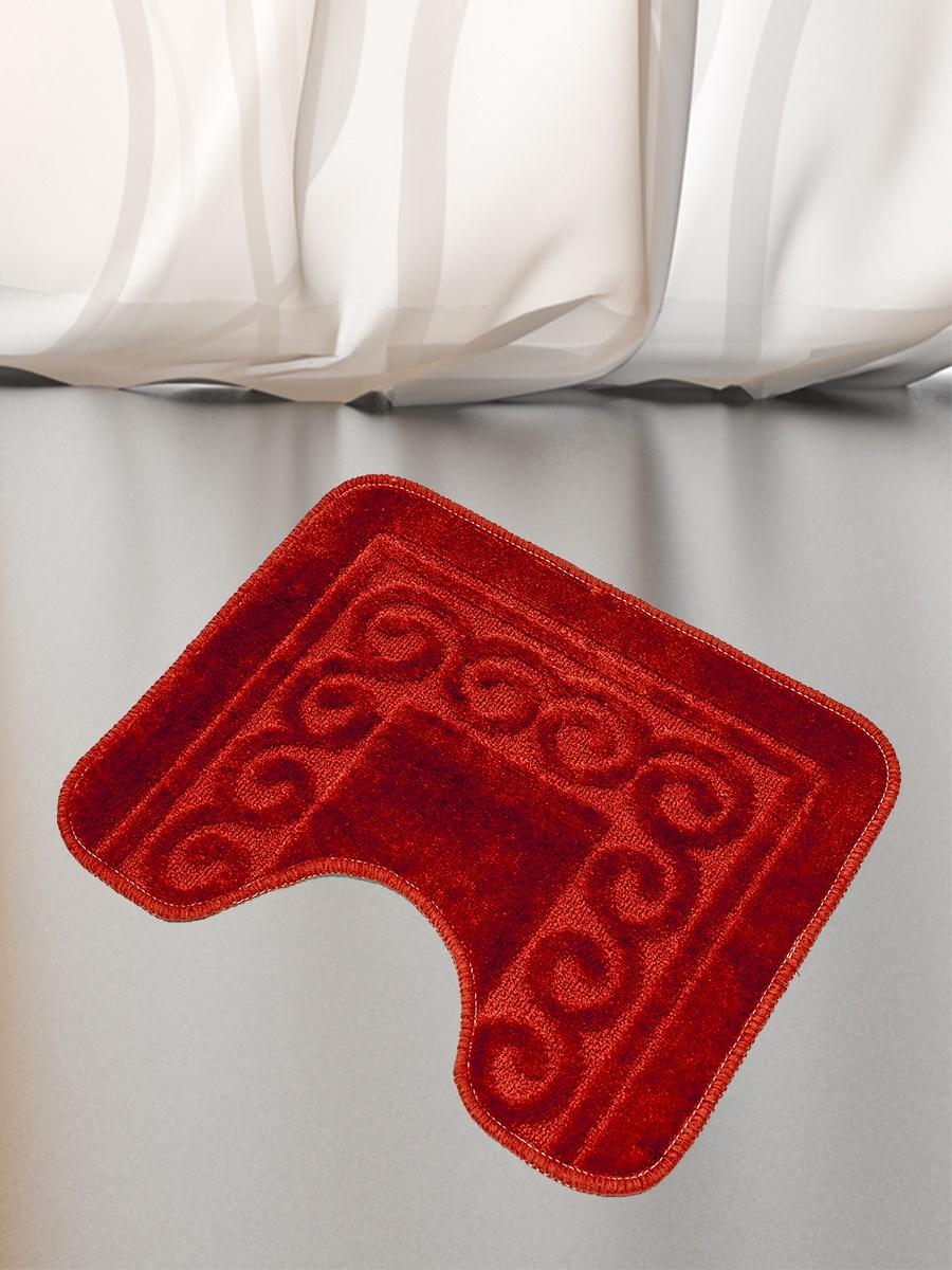 Коврик для туалета Mr.Penguin BF007/0, бордовый