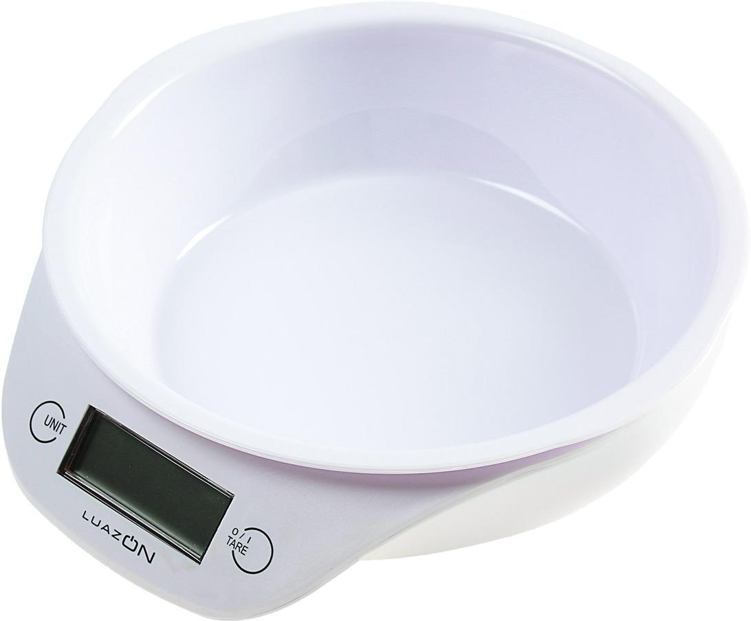 Кухонные весы Luazon Home LVKB-501, белый