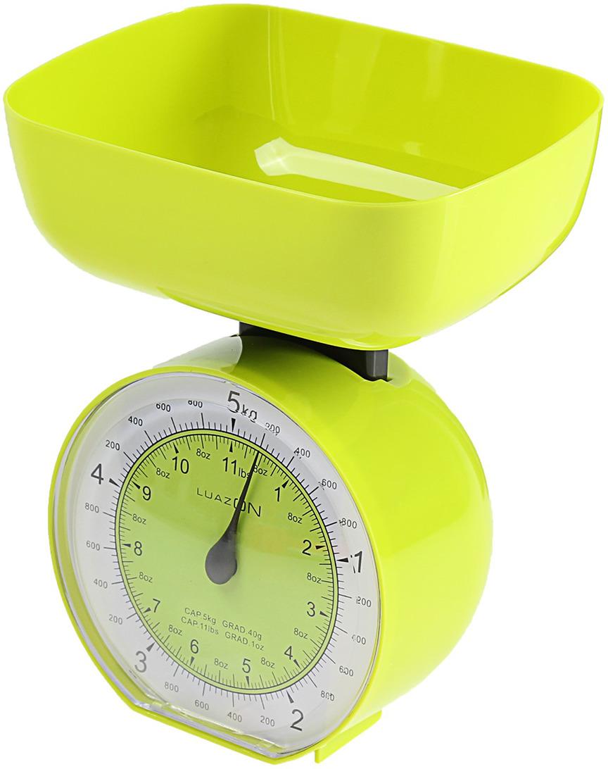 Кухонные весы Luazon Home LVKM-503, зеленый