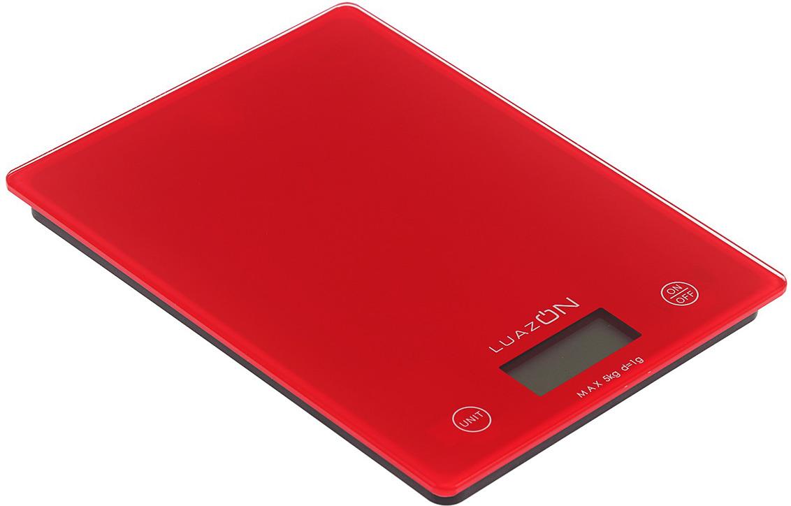 Кухонные весы Luazon Home LVK-702, красный