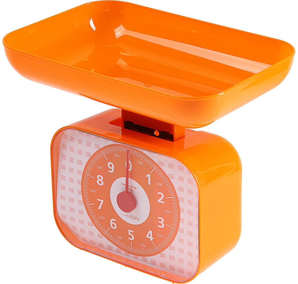 Кухонные весы Luazon Home LVKM-1001, оранжевый