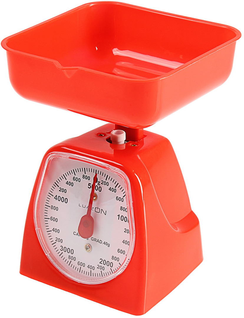Кухонные весы Luazon Home LVKM-501, красный