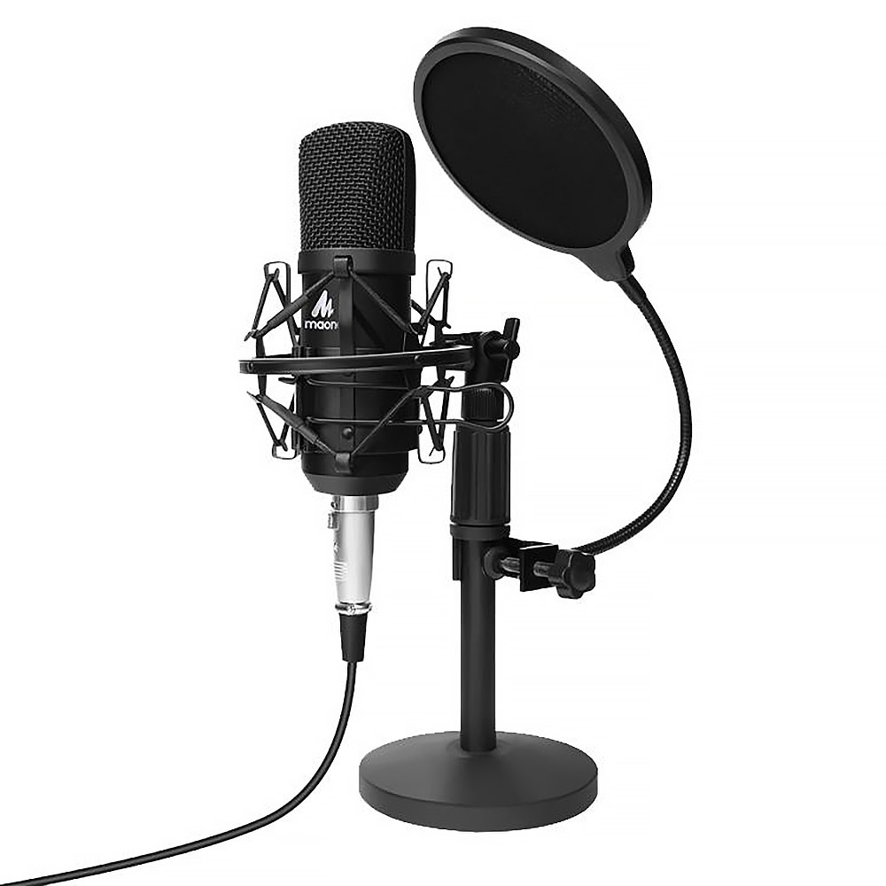 Микрофон MAONO AU-A03T, разъем Jack 3.5, конденсаторный, черный