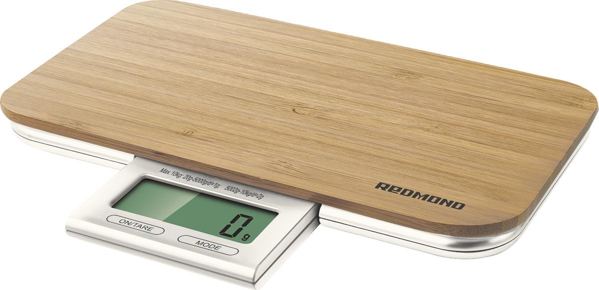 Кухонные весы Redmond RS-721, Wood кухонные комбайны redmond измельчитель rka fp4 150 вт